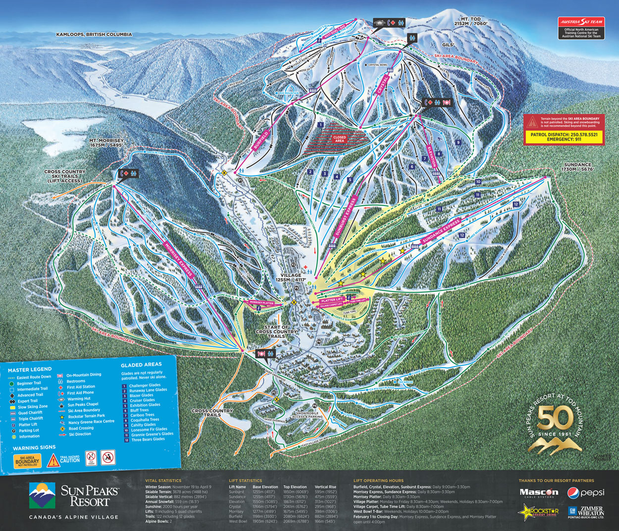 . sun peaks bc trail mapwebcams