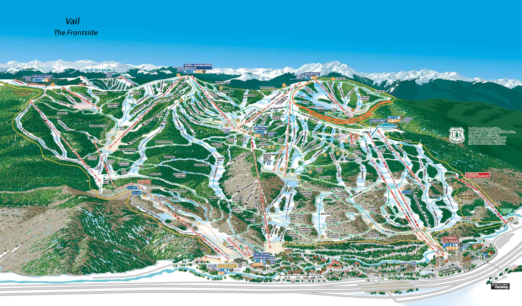 Vail, CO Trail Map/Webcams