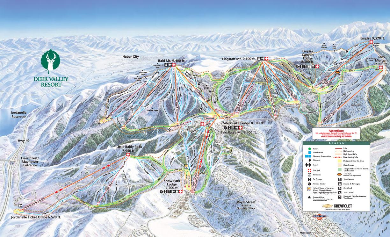 Deer Valley Resort Ut Trail Map Webcams