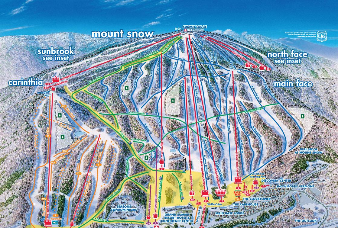 Mount Snow Vt Trail Map Webcams