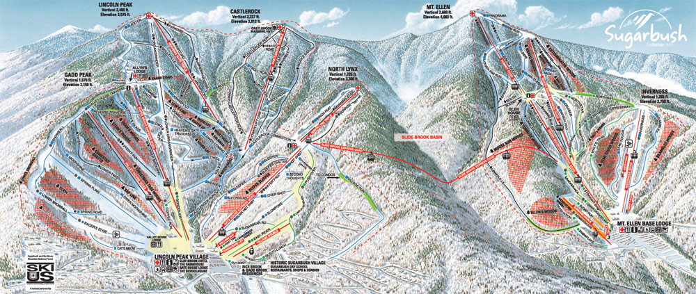 Sugarbush vt trail mapwebcams mountain cams publicscrutiny Choice Image