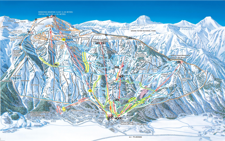 Jackson Hole Trail Map/Webcams