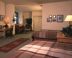 Steamboat CO-Lodging outing-Steamboat Grand Resort Hotel-1 Bedroom 2 Queens 2 Bath Condo Max Occup 6