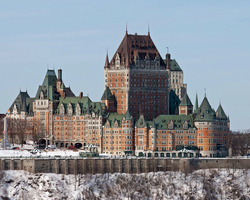 Mt Ste Anne Quebec-Lodging trip-Fairmont Chateau Frontenac