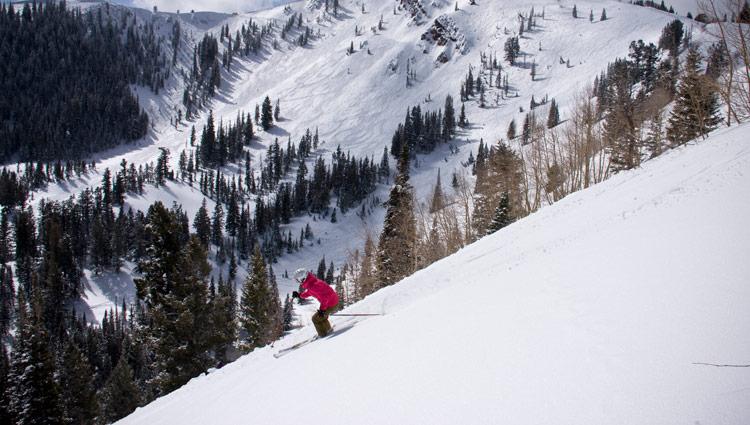 The ski area is huge with three resorts